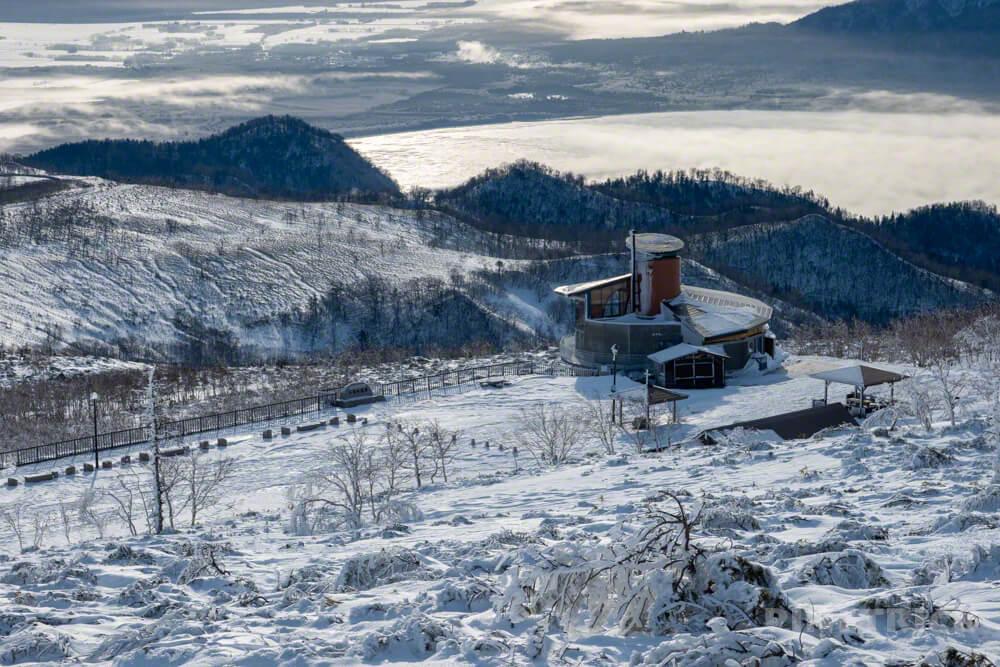 藻琴山 北海道 道東 冬山 登山 駐車場 レストハウス