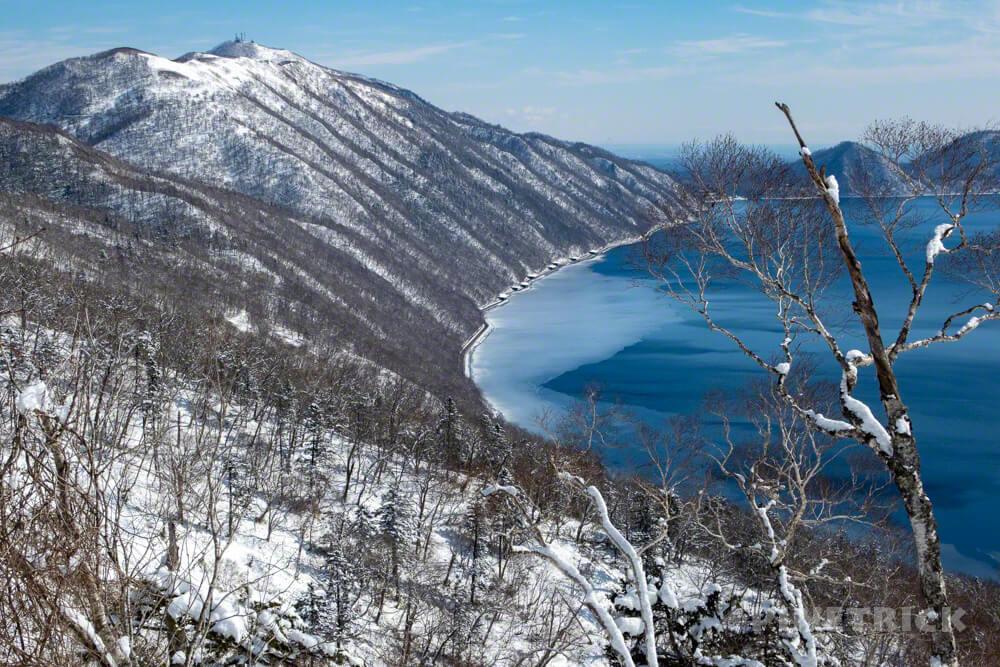 支笏湖 イチャンコッペ山 氷泥 除雪 冬山 登山 北海道 支笏湖 除雪