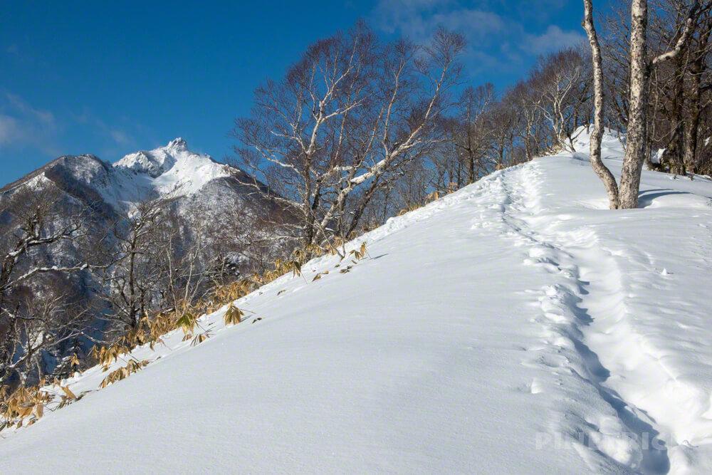 恵庭岳 幌平山 トレース 冬山 支笏湖 登山 北海道