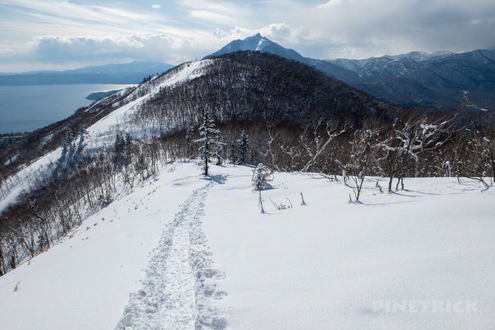 イチャンコッペ山 下山 冬山 北海道 登山 支笏湖 恵庭岳