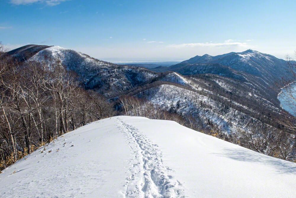 幌平山 支笏湖 紋別岳 イチャンコッペ山 785  北海道 登山 冬山 トレース 下山
