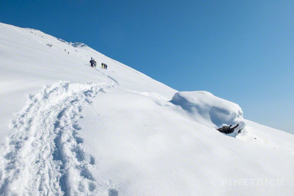 大雪山 旭岳 北海道 登山 冬山 トレース スキー ボーダー