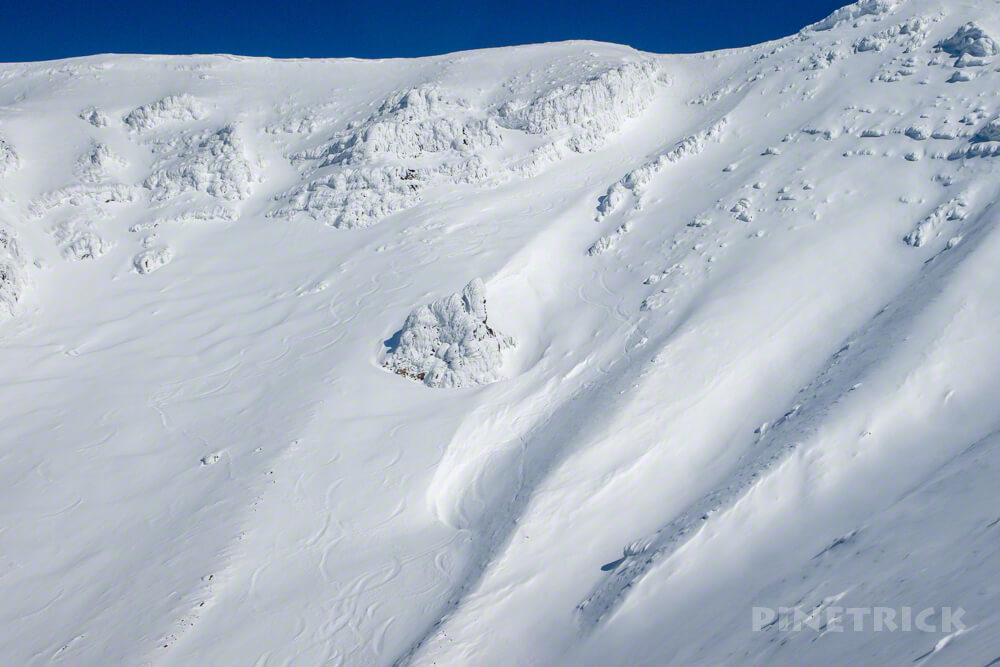 大雪山 旭岳 北海道 登山 冬山 スキー シュプール ボード お釜