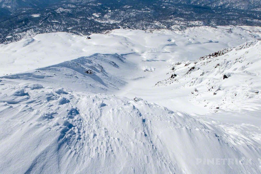 大雪山 旭岳 北海道 登山 冬山 山頂 シュカブラ