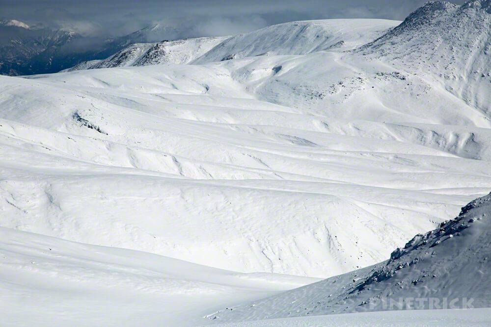 大雪山 旭岳 北海道 登山 冬山 白ゼブラ 後旭岳