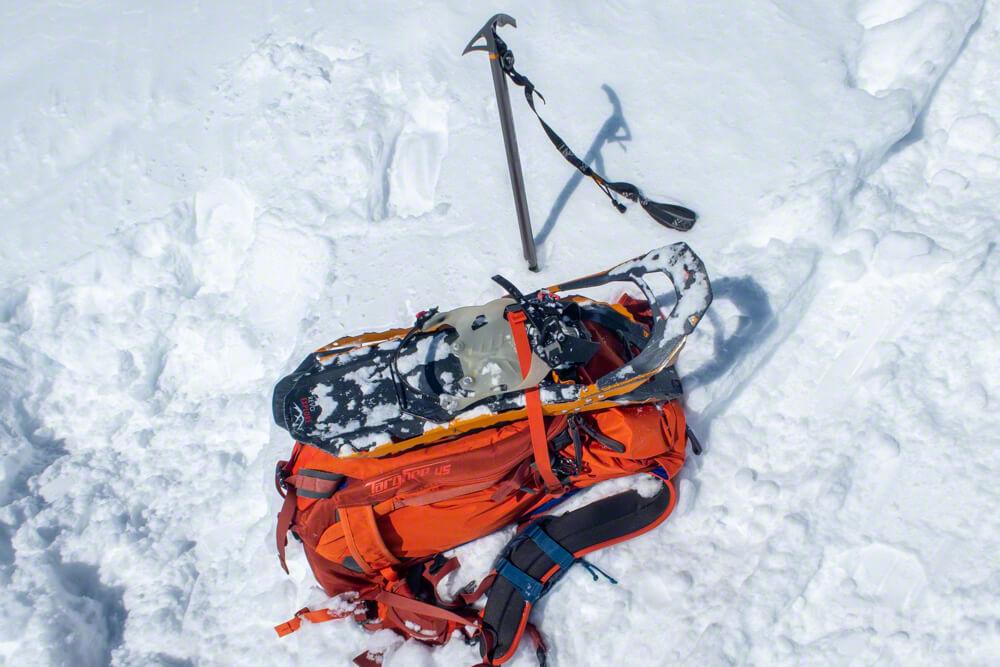 大雪山 旭岳 北海道 登山 冬山 スノーシュー アイゼン ピッケル