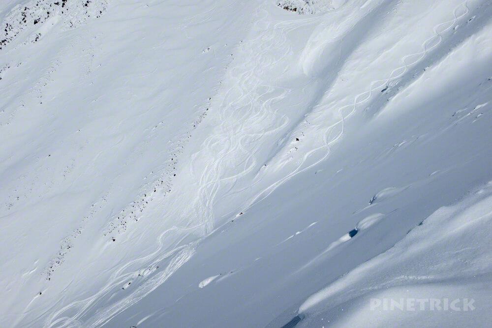 大雪山 旭岳 北海道 登山 冬山 スキー ボード シュプール
