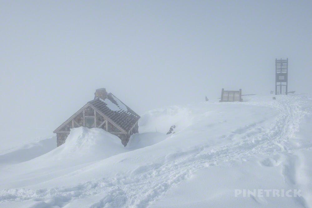 大雪山 旭岳 北海道 登山 冬山 石室 鐘