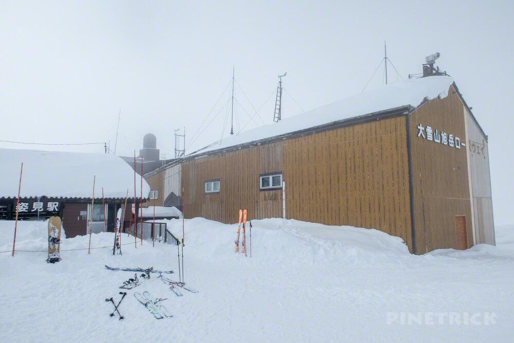 大雪山 旭岳 北海道 登山 冬山 スノーシュー 姿見駅 ロープウェイ