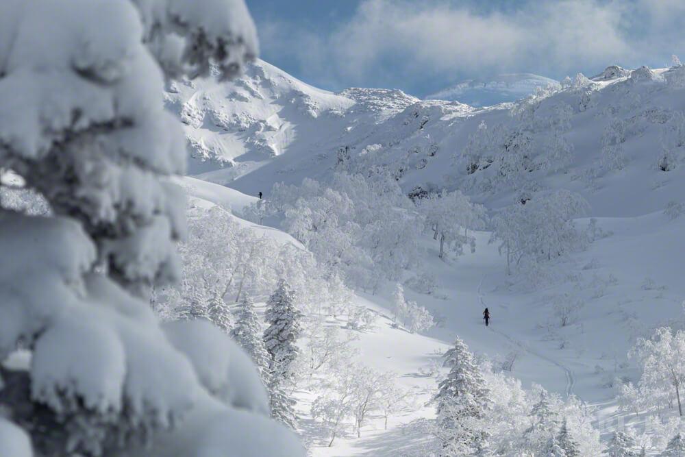 旭岳スキーコース Aコース トレース 冬山 北海道