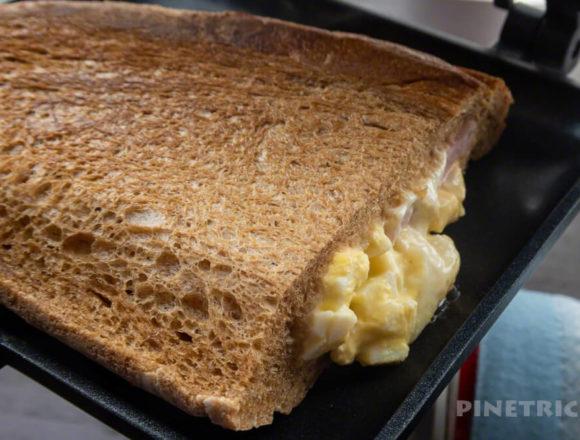 ホットサンド キャプテンスタッグ ボストンベイク カンパーニタマゴハム 朝食 アウトドア