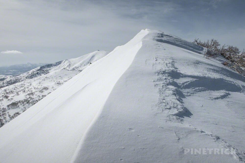 岩内岳 冬山 登山 北海道 スノーシュー バックカントリー スキー 岩内国際スキー場 白樺 尾根
