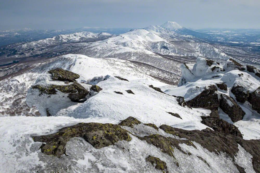 目国内岳 ニセコ連山 羊蹄山 前目国内岳 冬山 登山 北海道