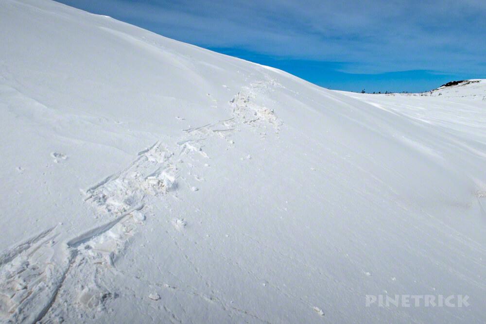 岩内岳 目国内岳 スノーシュー 雪原 ニセコ 冬山 北海道 登山 絶景 足跡