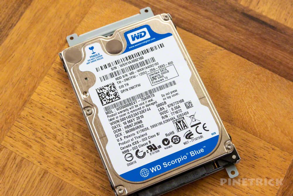 Dell Studio1747 ssd換装 crucial クローン作成 Acronis True Image wd blue 2.5インチ