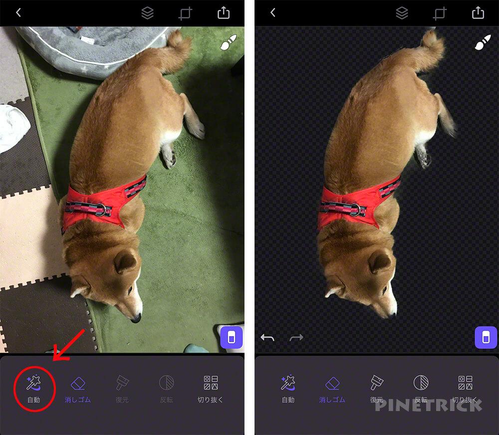 写真加工アプリ スマホ Enlight Photofox  2重合成 多重露光 レイヤー オーバーレイ 消しゴム 透明