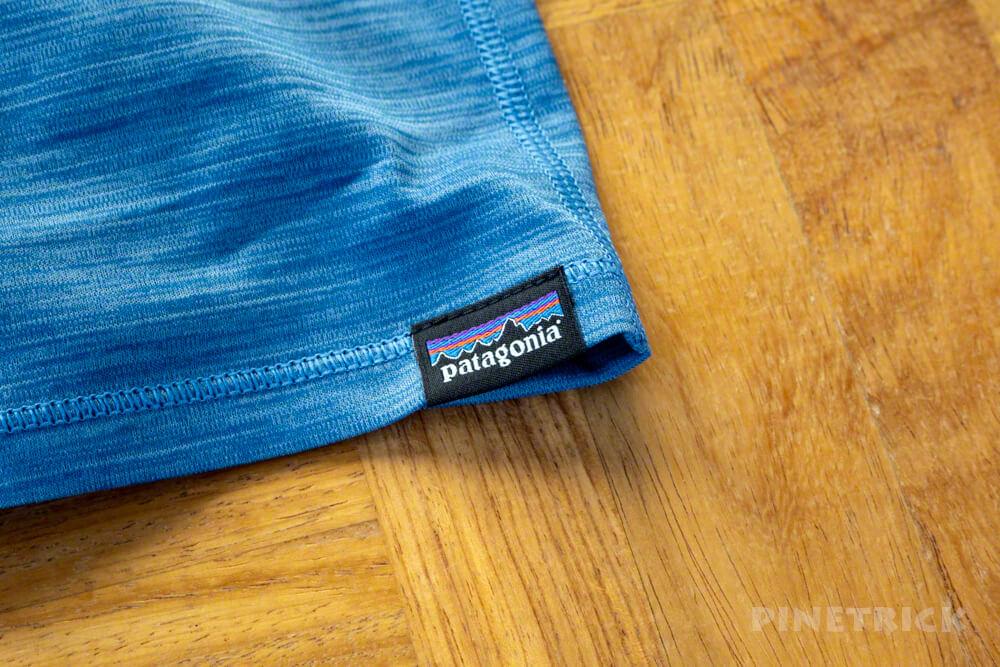 パタゴニア ロングスリーブ・キャプリーン・クール・ライトウェイト・シャツ ベースレイヤー 速乾 軽い 登山 汗かき タグ