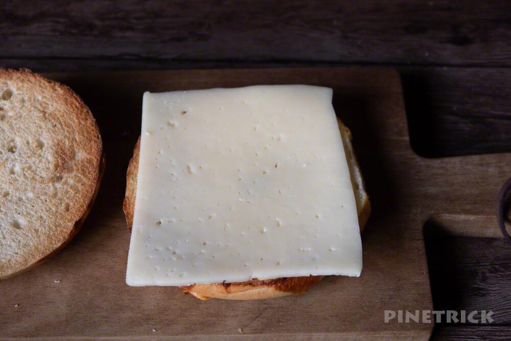 コストコ ベーグル 朝食 ARLA ハバティ チーズスライス