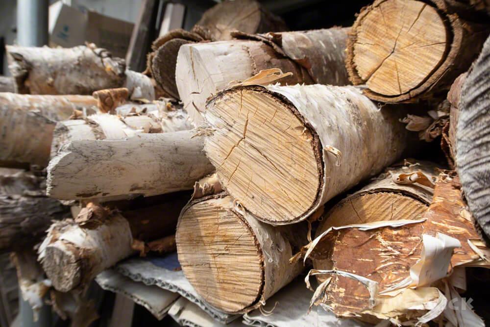 薪割り キャンプ 楔 斧 白樺 乾燥