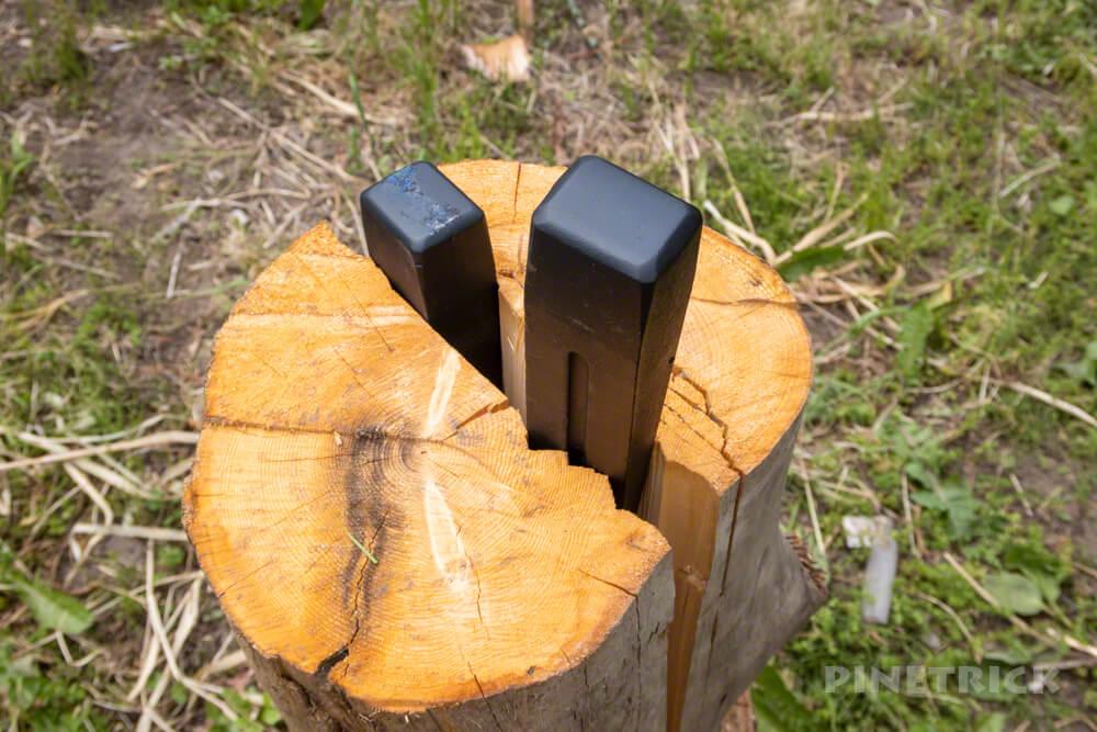 薪ストーブ 薪割り 楔 くさび 斧 キャンプ
