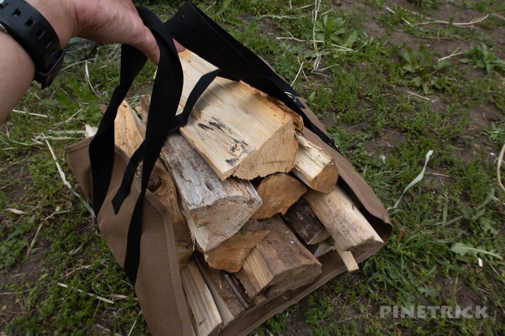 薪割り キャンプ キャリーバック 白樺 薪ストーブ 斧 小割