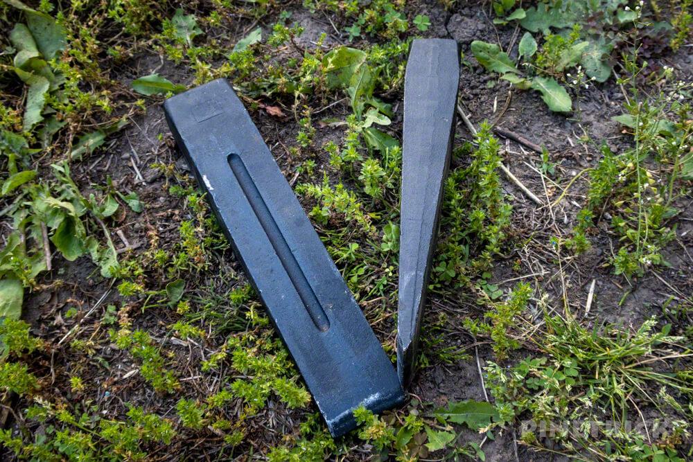 薪割り 楔 くさび キャンプ 斧 薪ストーブ 2本