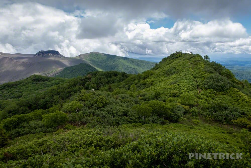 ニセピーク 風不死岳 樽前山 溶岩ドーム 西山