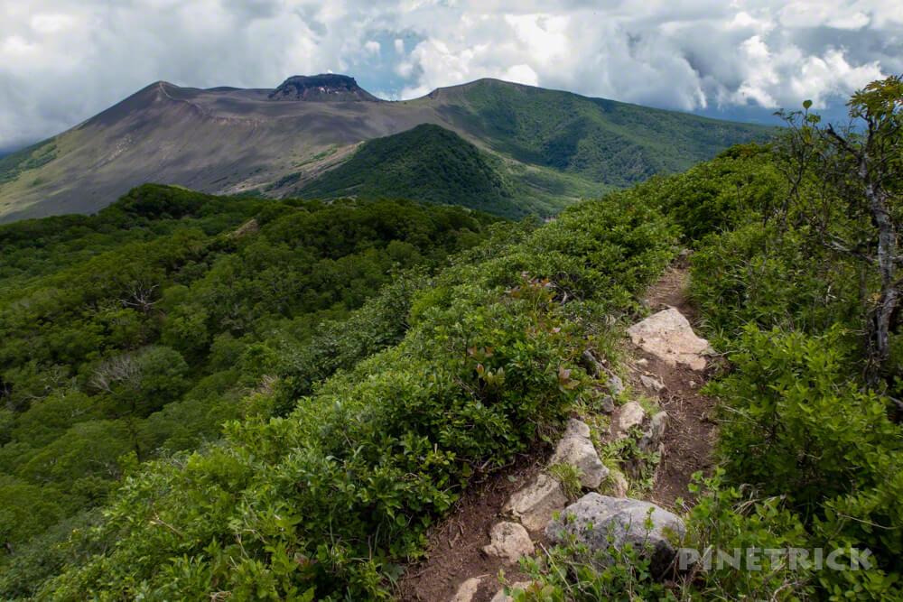 ニセピーク 風不死岳 樽前山 溶岩ドーム 西山  山道