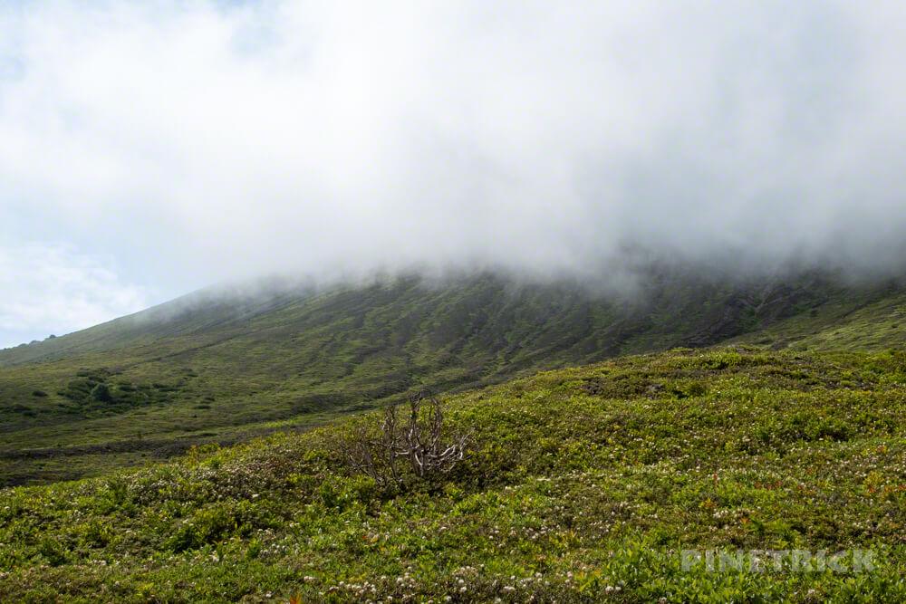 樽前山 東山山頂 ガス 雲海 登山