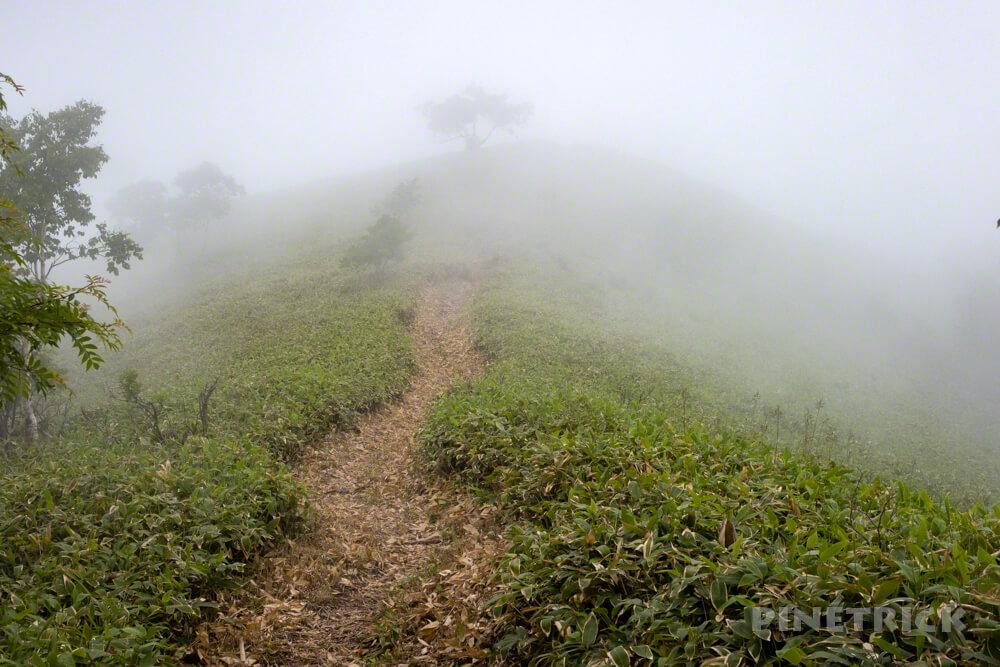 イチャンコッペ山 登山 北海道 支笏湖 785 ガス 霧