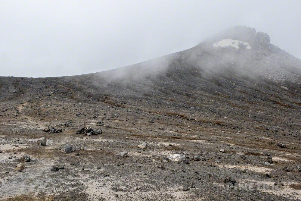 十勝岳 ガス 山頂 美瑛岳 縦走 北海道 登山