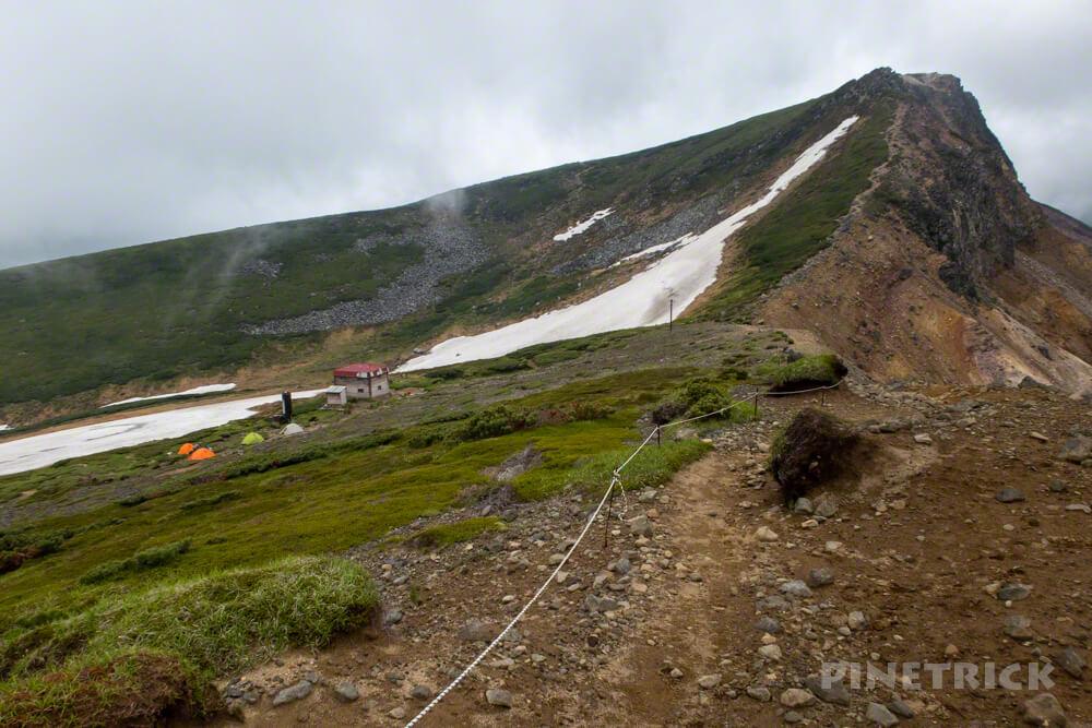 十勝岳連峰 縦走 避難小屋 上ホロカメットク山 迂回路 登山 北海道