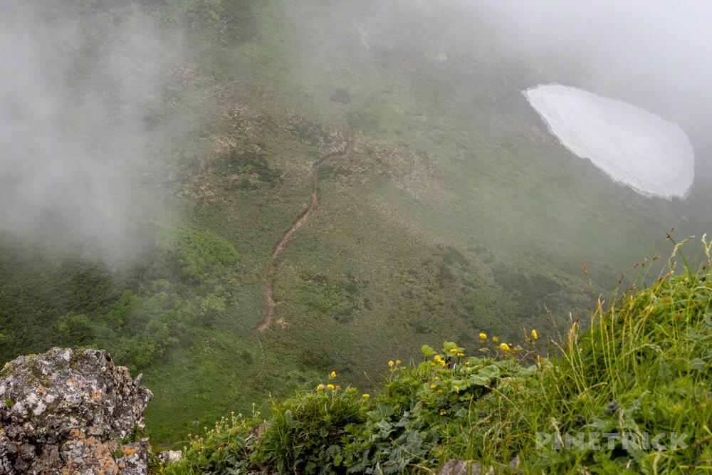 芦別岳 山頂 登山 北海道 旧道コース