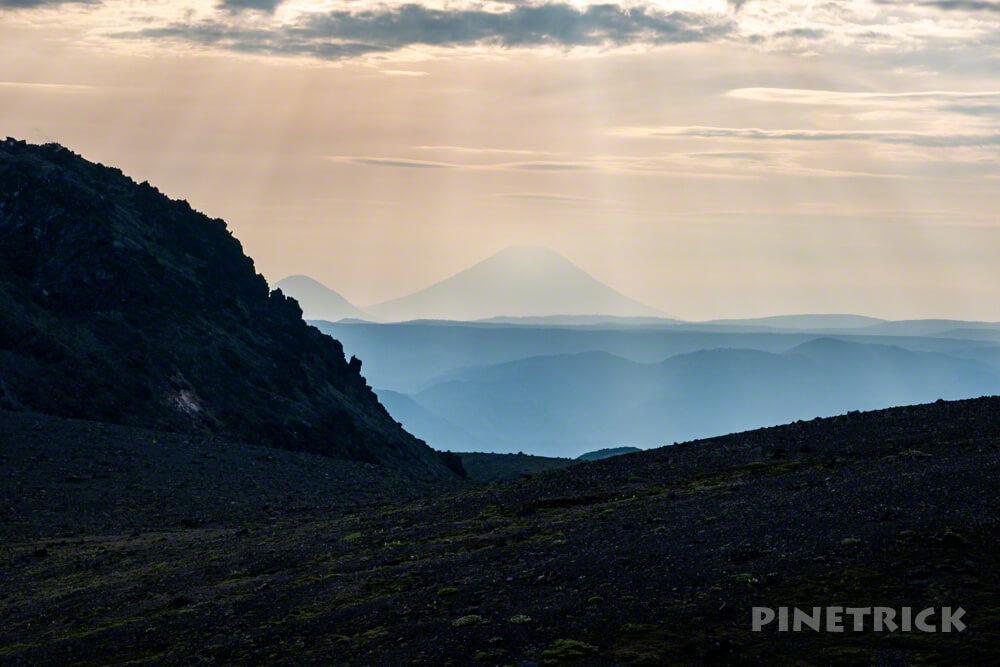 樽前山 溶岩ドーム 羊蹄山 サンセット登山 北海道