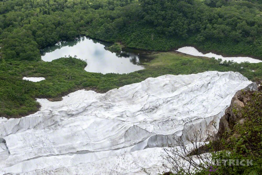 高原沼温泉 沼巡り 空沼 からぬま 残雪 北海道