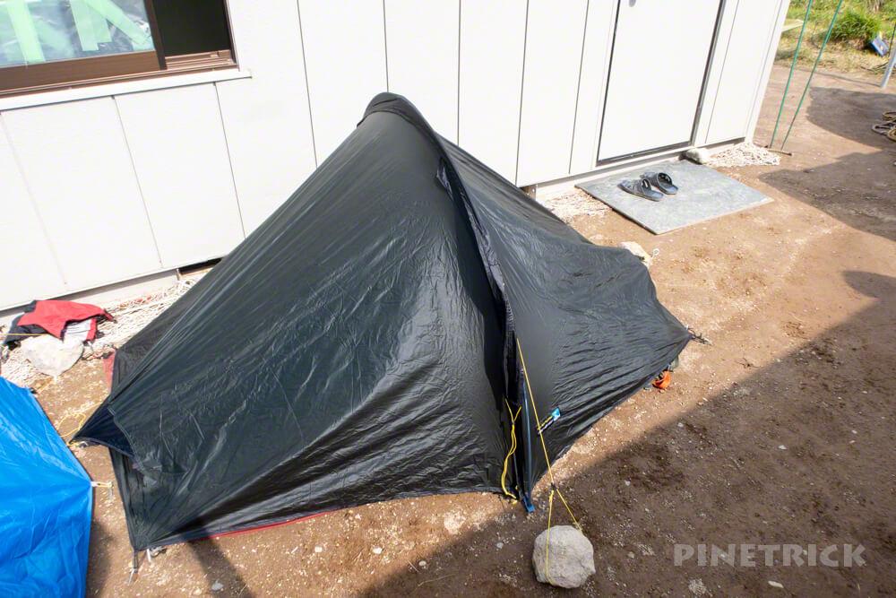 白雲岳避難小屋 テント泊 登山 縦走 水場 テラノバ レーサーコンペティション1