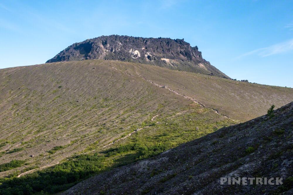 樽前山 サンセット登山 溶岩ドーム 分岐 北海道