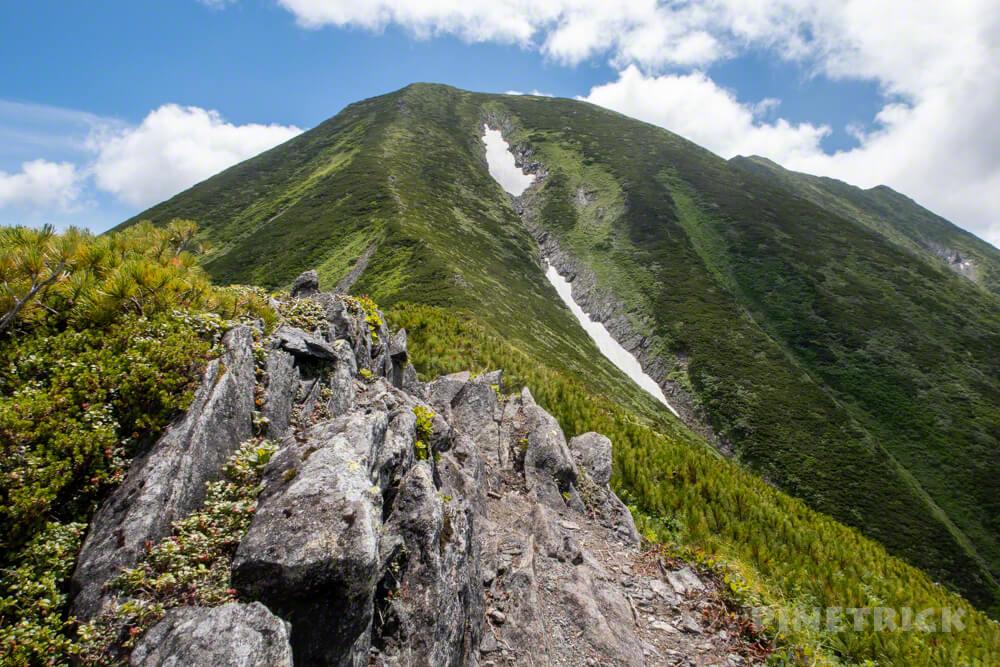 幌尻岳 チロロ林道 登山 テント泊 北海道 百名山 肩