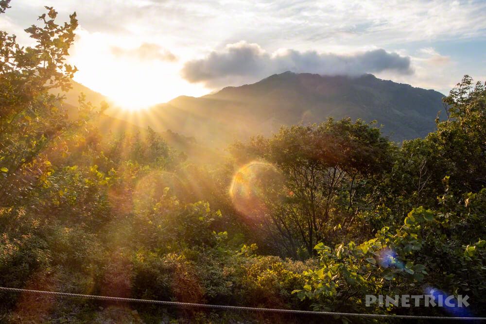 樽前山 登山 樹林帯 北海道 サンセット登山
