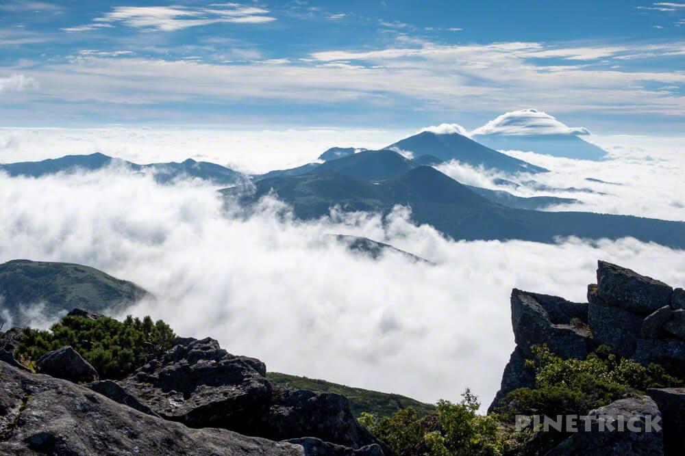 目国内岳 山頂 登山 絶景 北海道 ニセコ連山 羊蹄山 雲海
