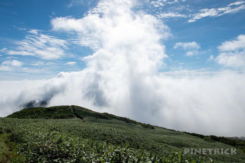 目国内岳 登山 雲海 北海道