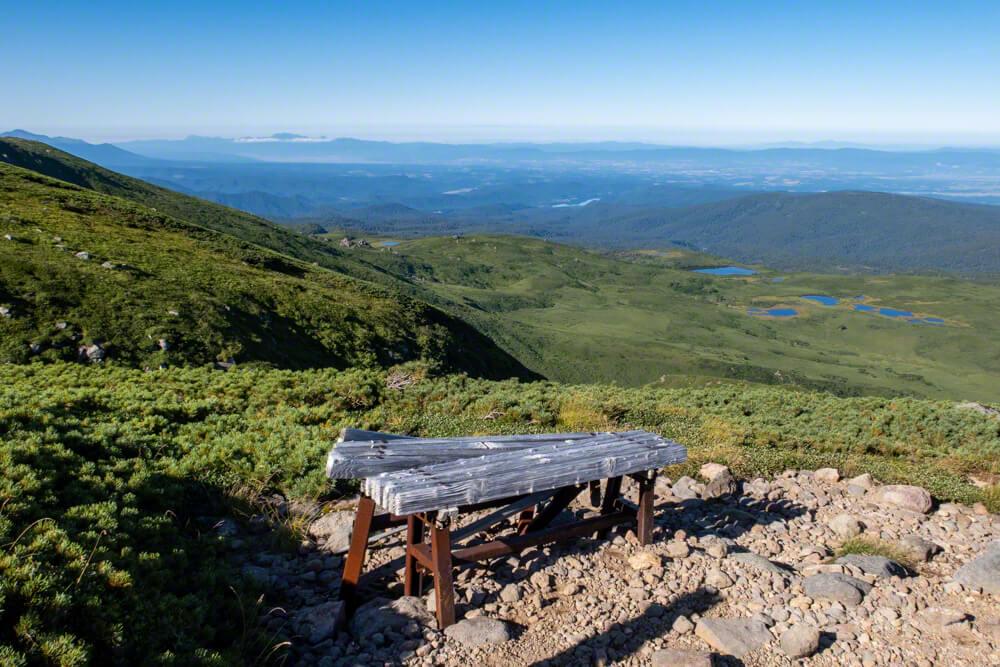 愛別岳 愛山渓温泉 登山口 北海道 沼の平 ベンチ 大雪山