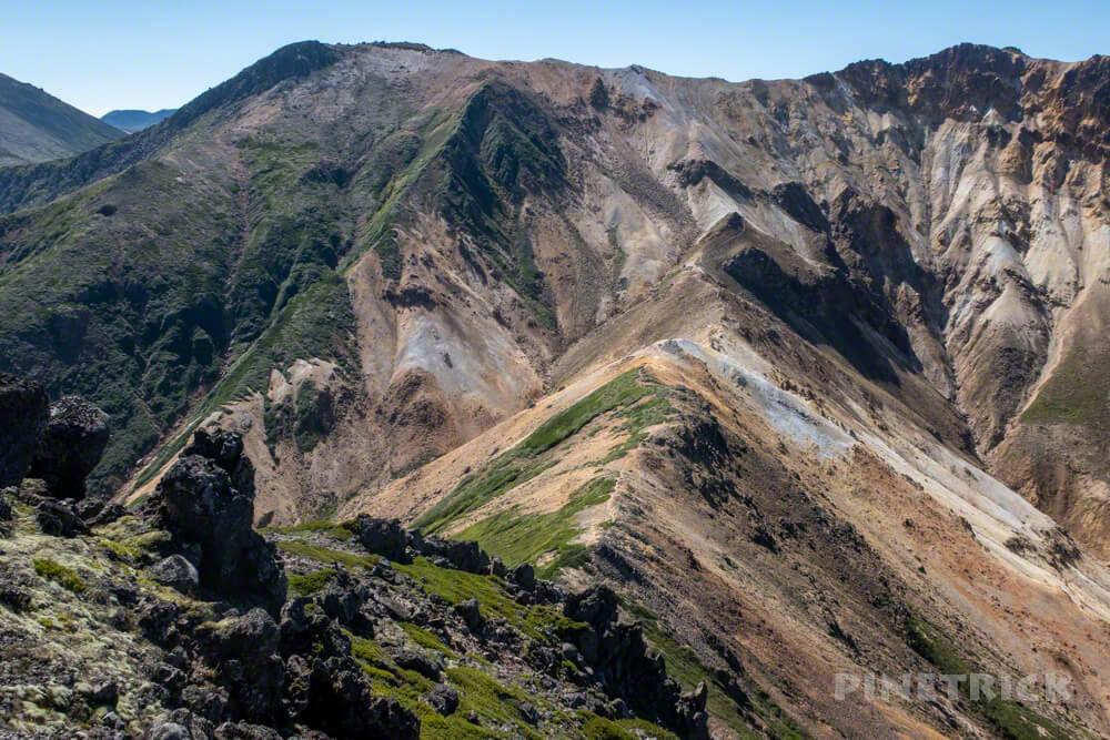 大雪山 愛別岳 愛山渓温泉 分岐 北海道 登山 稜線