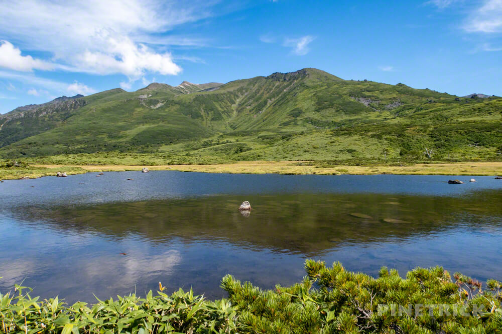 大雪山 当麻岳 当麻乗越 岩場 北海道 登山 愛山渓温泉 沼の平 六の沼