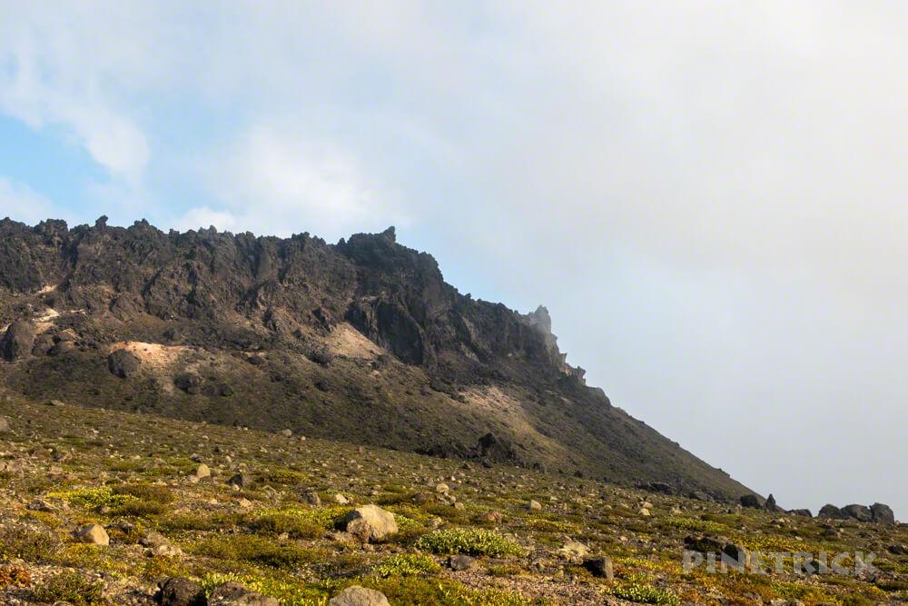 樽前山 お花畑コース 溶岩ドーム 北海道 サンセット登山