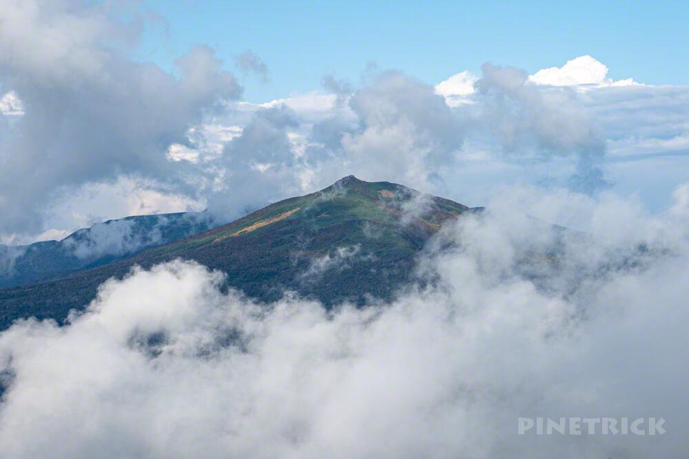 ニセコ シャクナゲ岳 目国内岳 雲海 ガス 北海道 登山