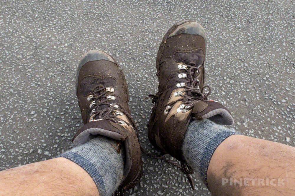ニセコ 白樺山 登山 北海道 登山口 駐車場 キャラバン 登山靴