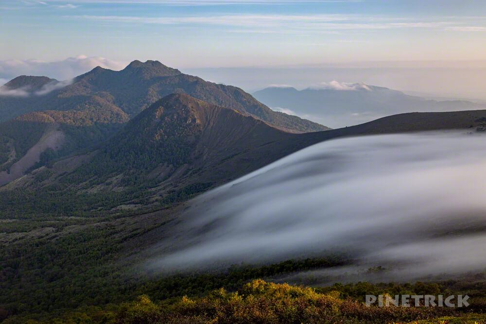 樽前山 溶岩ドーム 噴煙 西山 ご来光 登山 ガス 雲海 932峰 風不死岳 スローシャッター