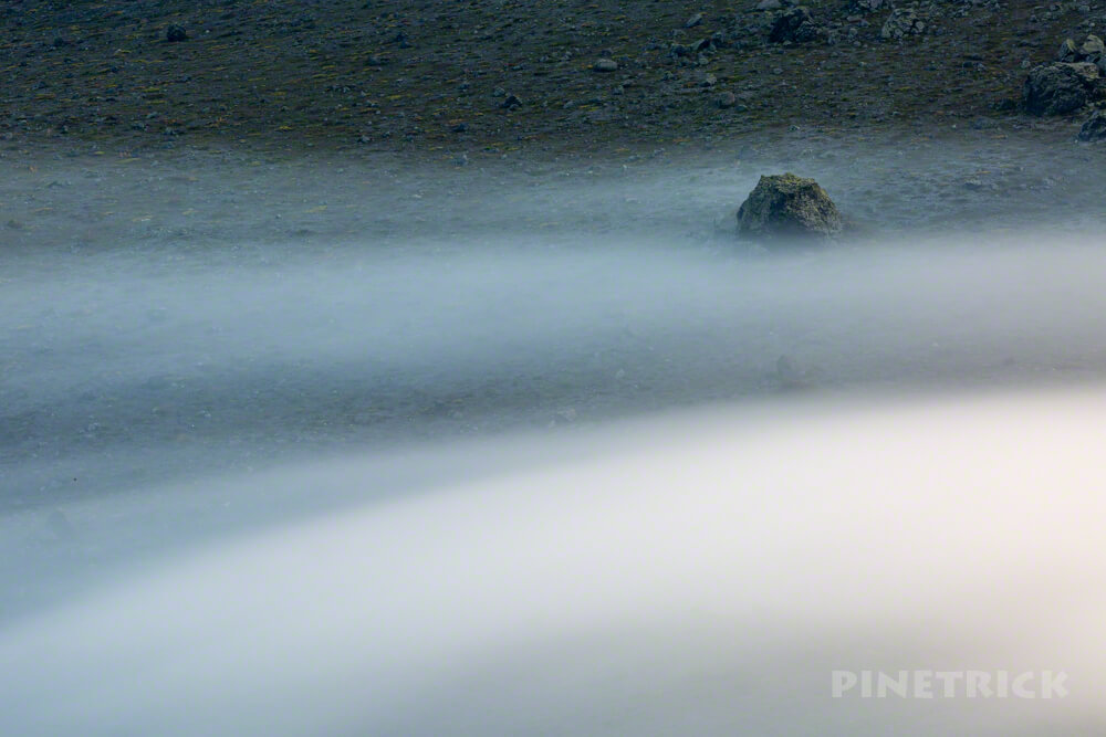 樽前山 西山 ご来光 登山 ガス 雲海 スローシャッター