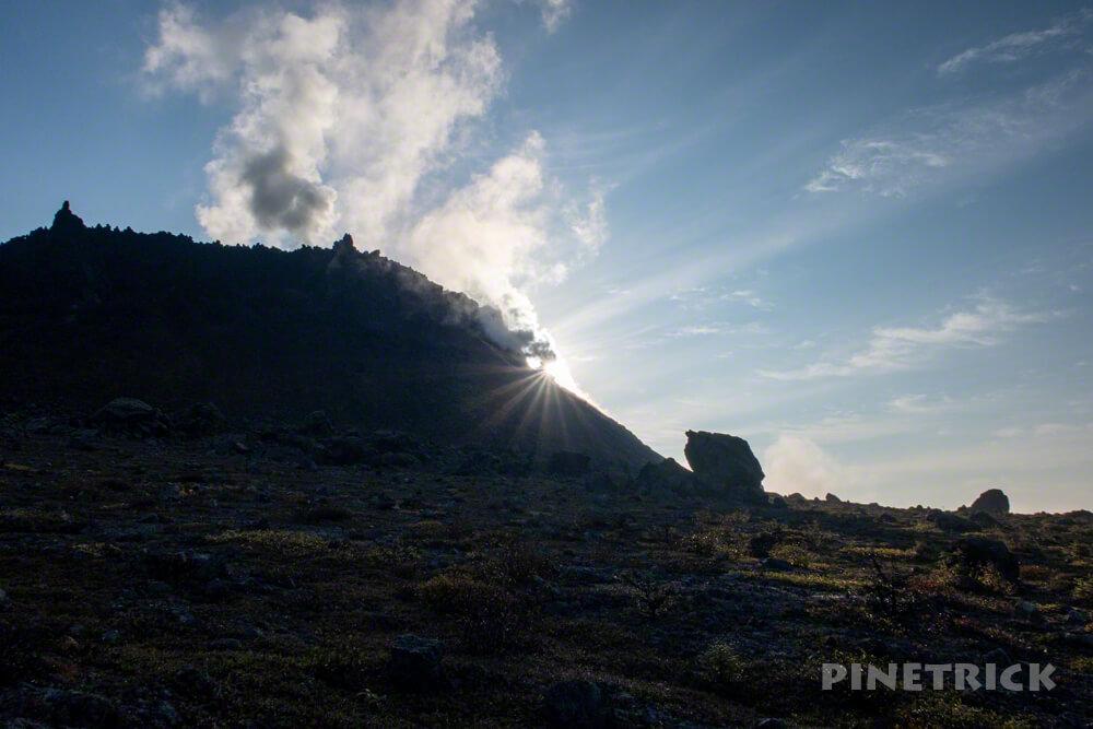 樽前山 溶岩ドーム ご来光 登山 朝日 北海道